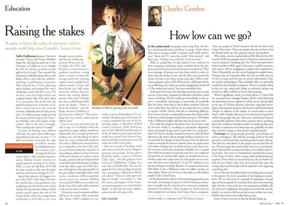 Article Preview: Raising the stakes, July 2000 | Maclean's