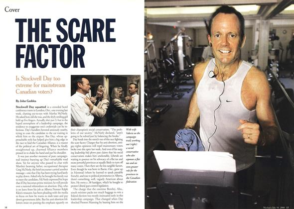 Article Preview: THE SCARE FACTOR, July 2000 | Maclean's