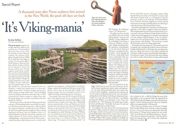 Article Preview: 'It's Viking-mania', July 2000 | Maclean's