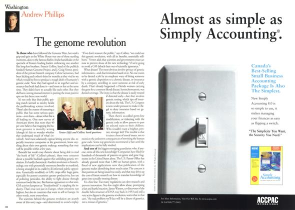 Article Preview: The genome revolution, July 2000 | Maclean's