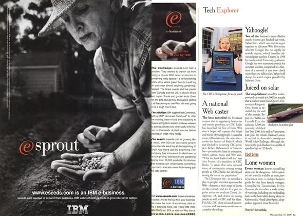 Article Preview: Tech Explorer, July 2000 | Maclean's