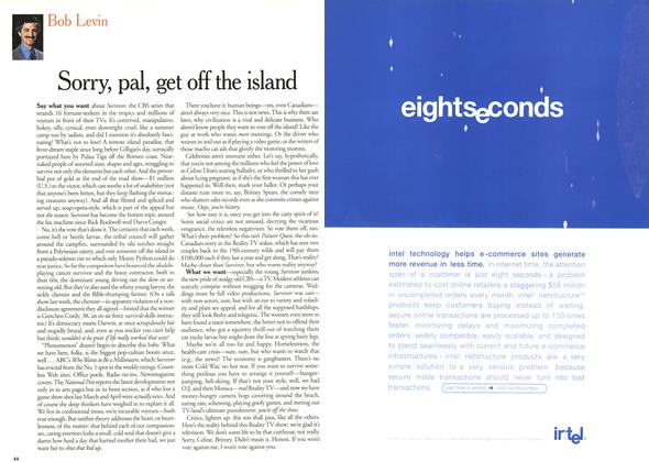 Article Preview: Sorry, pal, get off the island, July 2000 | Maclean's