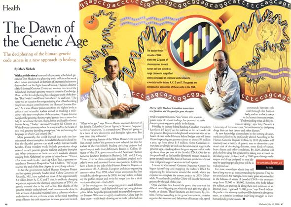 Article Preview: The Dawn of the Genetic Age, July 2000 | Maclean's