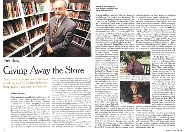 Article Preview: Giving Away the Store, July 2000 | Maclean's
