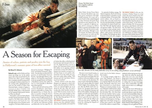 Article Preview: A Season for Escaping, July 2000 | Maclean's