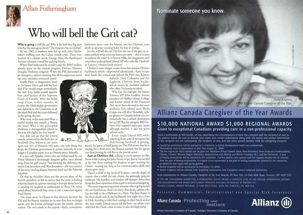 Article Preview: Who will bell the Grit cat?, July 2000 | Maclean's