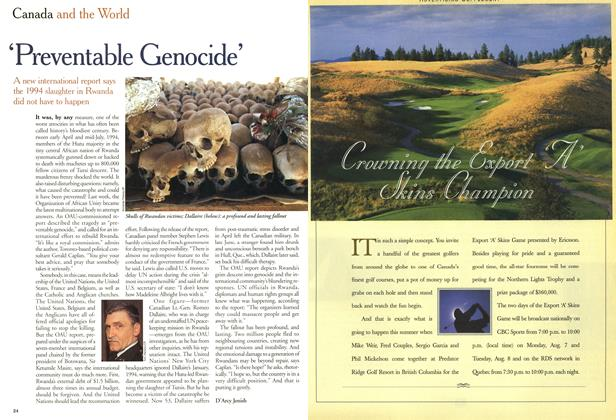 Article Preview: 'Preventable Genocide', July 2000 | Maclean's