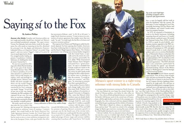 Article Preview: Saying sí to the Fox, July 2000 | Maclean's