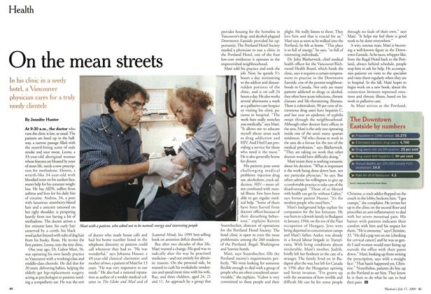 Article Preview: On the mean streets, July 2000 | Maclean's