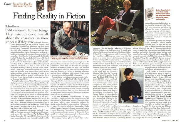 Article Preview: Finding Reality in Fiction, July 2000 | Maclean's