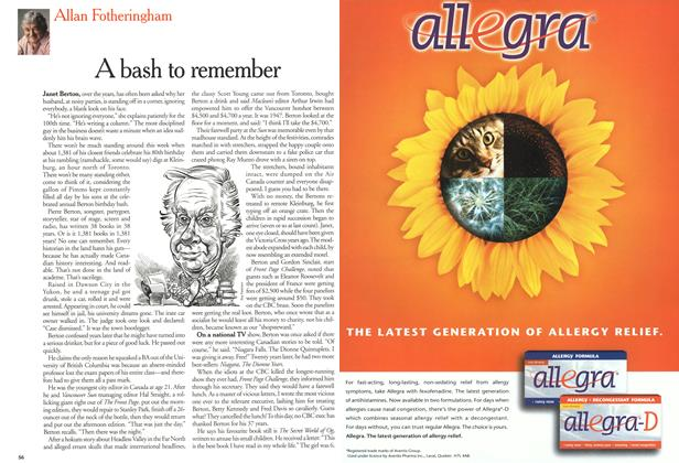 Article Preview: A bash to remember, July 2000 | Maclean's