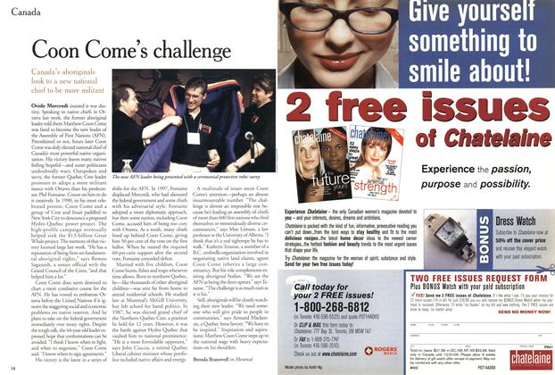 Article Preview: Coon Come's challenge, July 2000   Maclean's