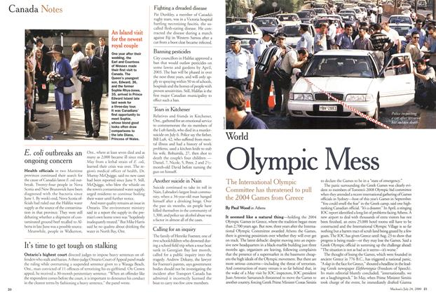 Article Preview: Olympic Mess, July 2000 | Maclean's