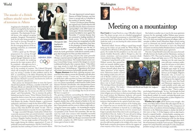 Article Preview: Meeting on a mountaintop, July 2000 | Maclean's