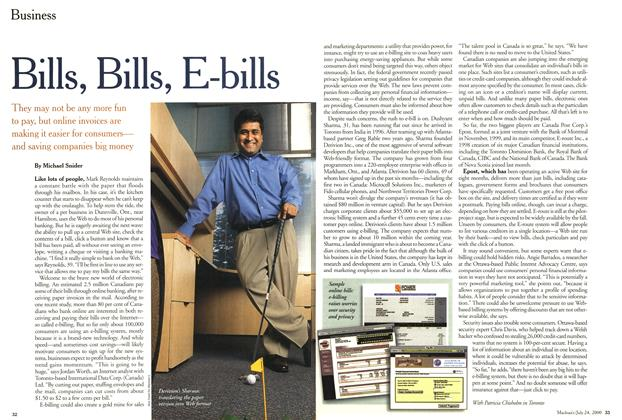 Article Preview: Bills, Bills, E-bills, July 2000 | Maclean's