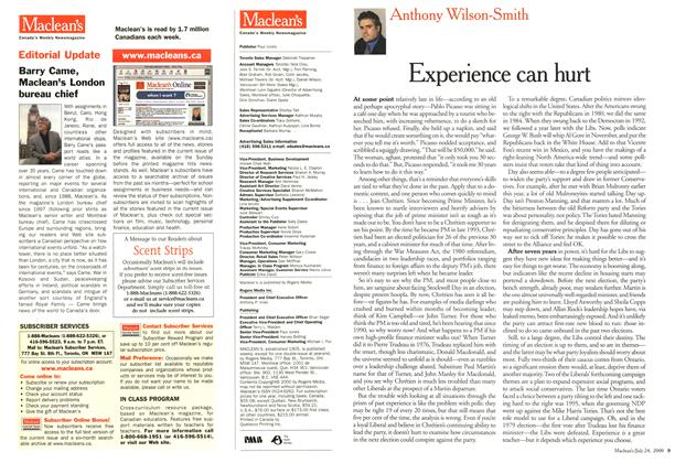 Article Preview: Experience can hurt, July 2000 | Maclean's