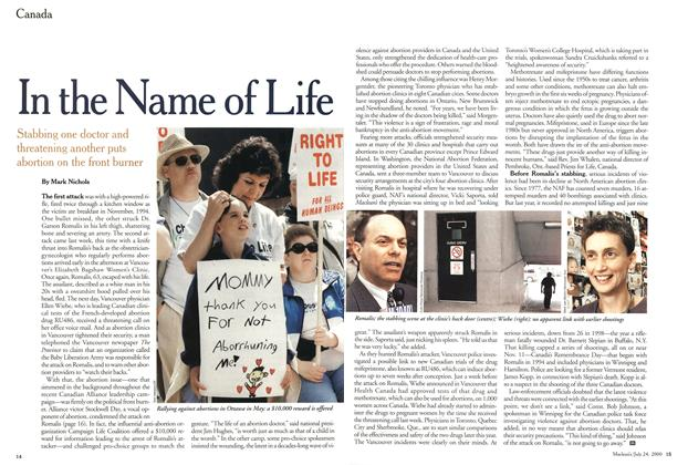 Article Preview: In the Name of Life, July 2000 | Maclean's