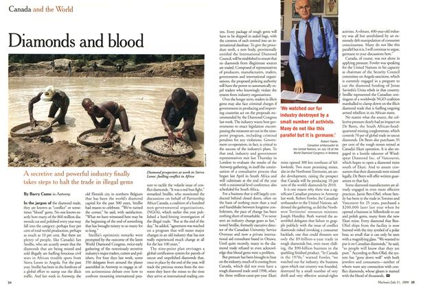 Article Preview: Diamonds and blood, July 2000 | Maclean's