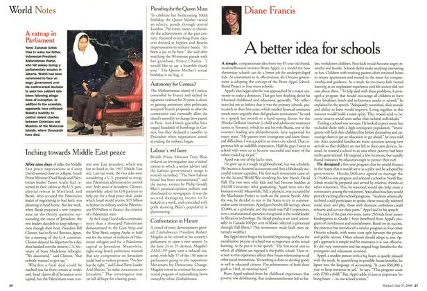 Article Preview: A better idea for schools, July 2000 | Maclean's