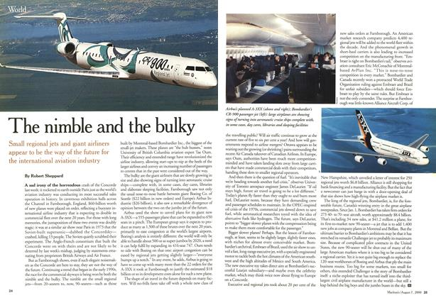 Article Preview: The nimble and the bulky, August 2000 | Maclean's