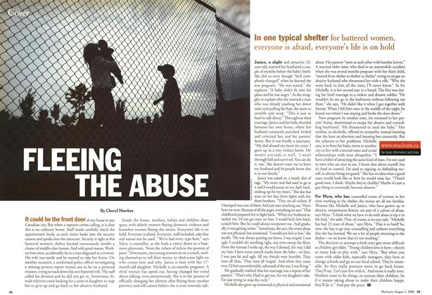 Article Preview: FLEEING THE ABUSE, August 2000 | Maclean's