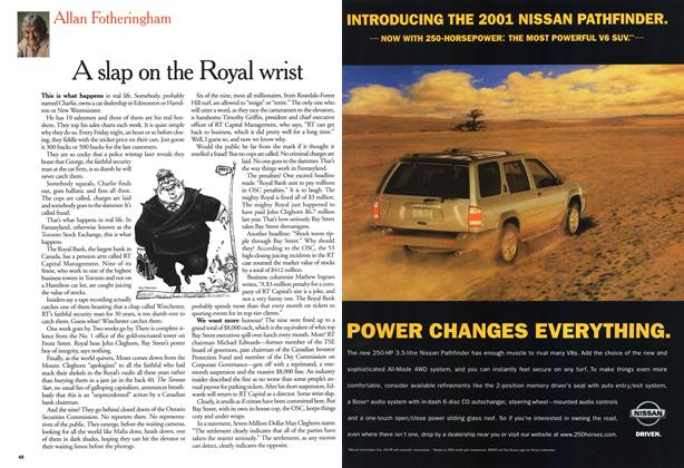 Article Preview: A slap on the Royal wrist, August 2000 | Maclean's