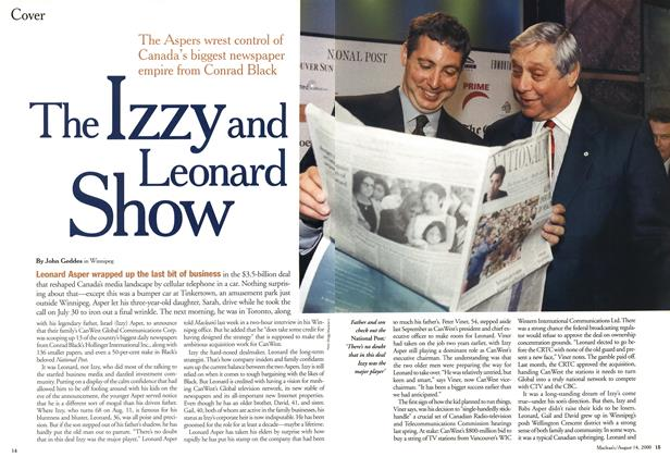 Article Preview: The Izzy and Leonard Show, August 2000 | Maclean's