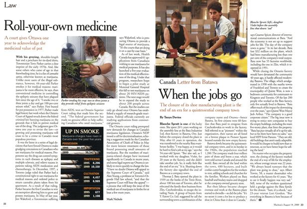 Article Preview: When the jobs go, August 2000 | Maclean's