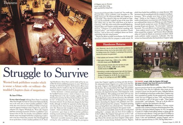 Article Preview: Struggle to Survive, August 2000 | Maclean's