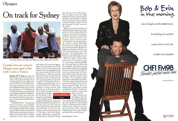 Article Preview: On track for Sydney, August 2000 | Maclean's