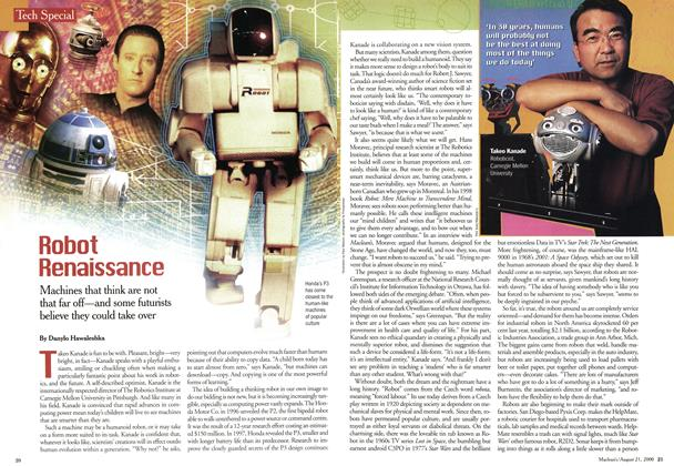 Article Preview: Robot Renaissance, August 2000 | Maclean's