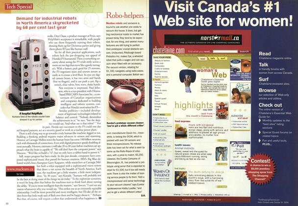 Article Preview: Robo-helpers, August 2000 | Maclean's