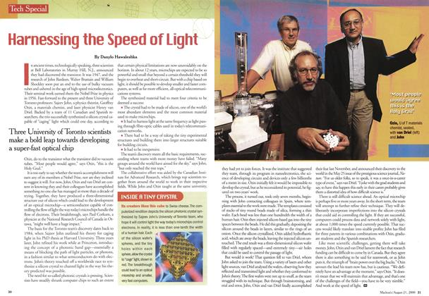Article Preview: Harnessing the Speed of Light, August 2000 | Maclean's