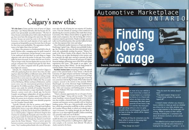Article Preview: Finding Joe's Garage, August 2000 | Maclean's