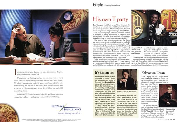 Article Preview: People, August 2000 | Maclean's