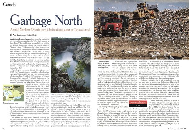 Article Preview: Garbage North, August 2000 | Maclean's