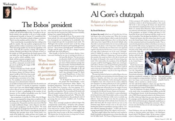 Article Preview: The Bobos' president, August 2000 | Maclean's