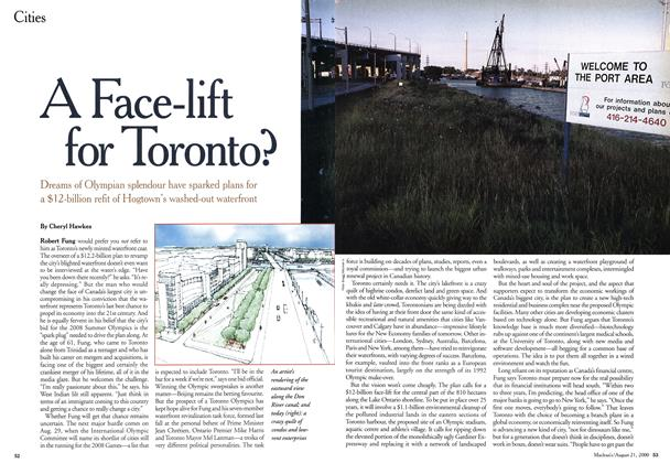 Article Preview: A Face-lift for Toronto?, August 2000 | Maclean's