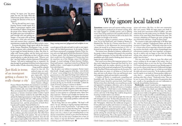 Article Preview: Why ignore local talent?, August 2000 | Maclean's