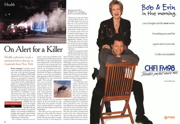 Article Preview: On Alert for a Killer, August 2000 | Maclean's