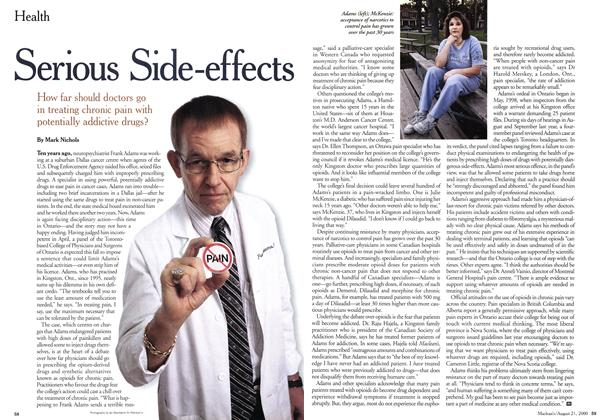 Article Preview: Serious Side-effects, August 2000 | Maclean's
