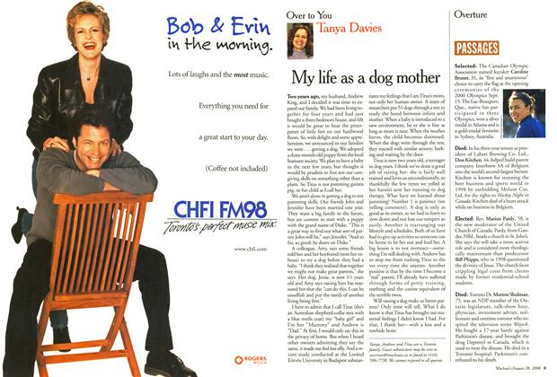 Article Preview: My life as a dog mother, August 2000 | Maclean's