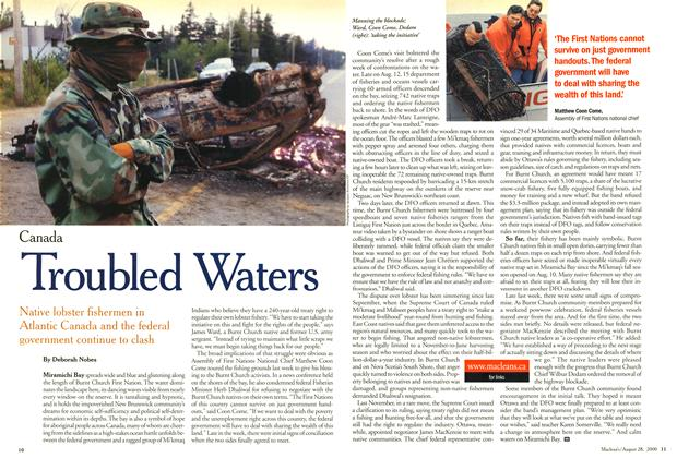 Article Preview: Troubled Waters, August 2000 | Maclean's