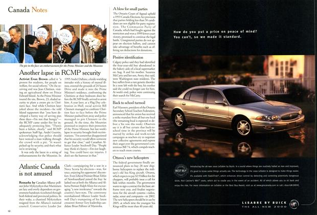 Article Preview: Canada Notes, August 2000 | Maclean's