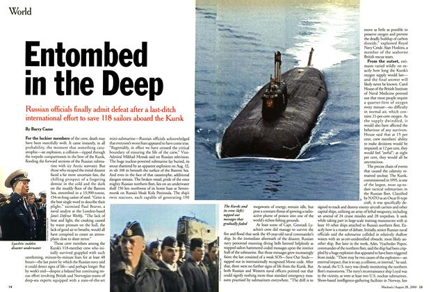 Article Preview: Entombed in the Deep, August 2000 | Maclean's