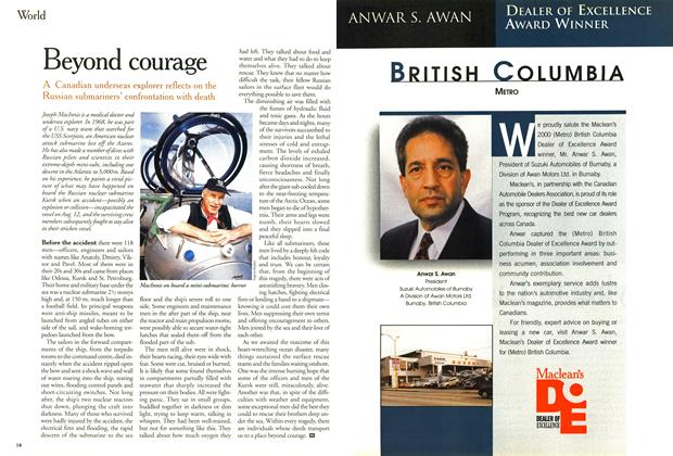 Article Preview: Beyond courage, August 2000 | Maclean's