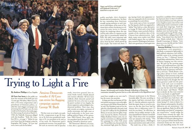 Article Preview: Trying to Light a Fire, August 2000 | Maclean's