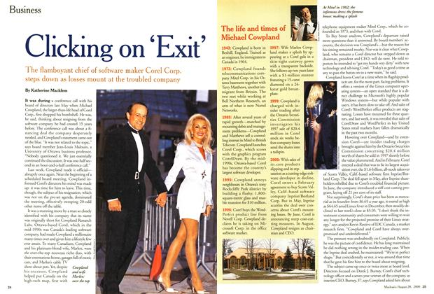 Article Preview: Clicking on 'Exit', August 2000 | Maclean's