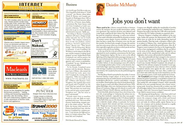 Article Preview: -Jobs you don't want, August 2000 | Maclean's