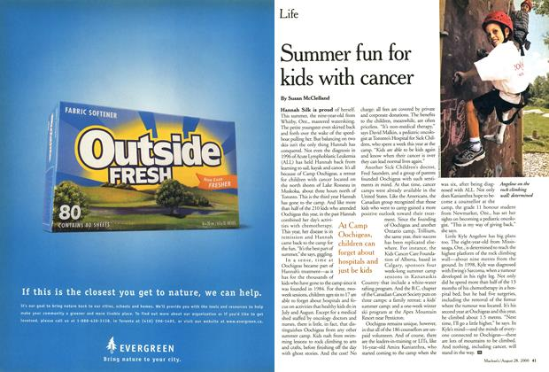 Article Preview: Summer fun for kids with cancer, August 2000 | Maclean's